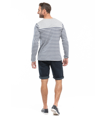 Tee-shirt marinière manches longues homme_1