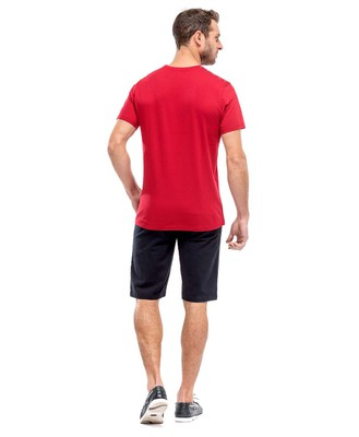 Tee-shirt rouge homme_1