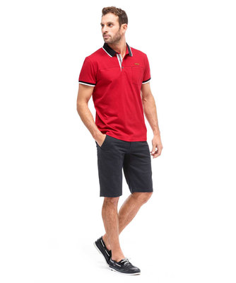 AKRIS Polo H ROUGE PIMENT_1