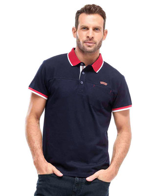 Polo bleu marine manches courtes homme - Mode marine Homme