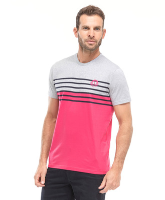 Tee-shirt tricolore homme - Mode marine Homme