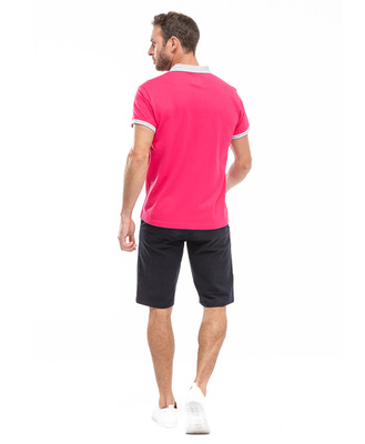 Polo manches courtes homme rose_1
