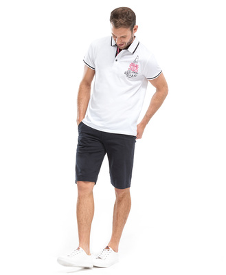 Polo blanc homme - Mode marine Homme