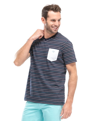Tee-shirt à rayures homme - Mode marine Homme