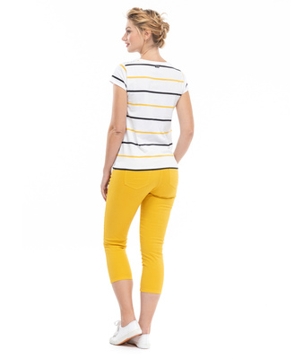 Tee-shirt manches courtes jaune - Mode marine FINPromotions