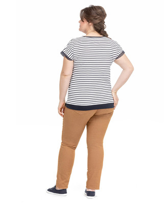 Tee-shirt rayures grande taille_1