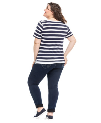 Tee-shirt manches courtes grande taille_1