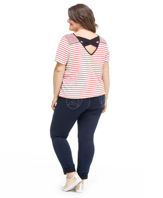 Tee-shirt col V grande taille_1