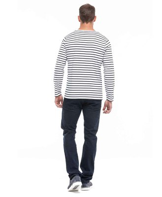 Tee-shirt manches longues marinière homme_1