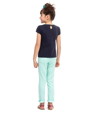 Tee-shirt marine manches courtes fille_1