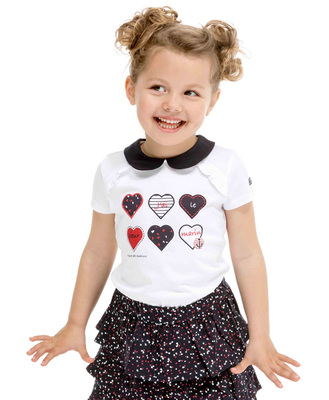 Tee-shirt col claudine fille - Mode marine Enfant