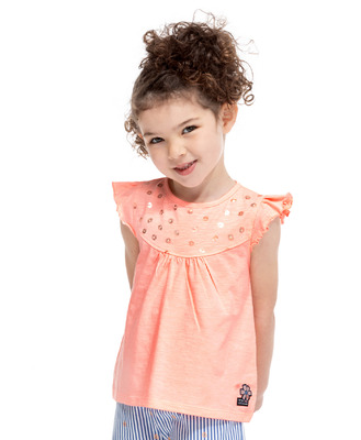 Tee-shirt rose fluo fille - Mode marine Enfant