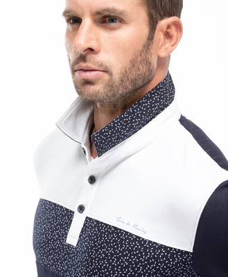Polo tricolore homme - Mode marine Homme
