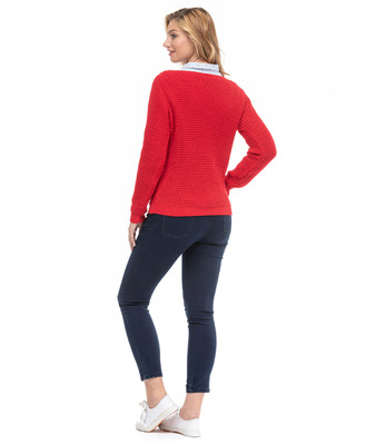 Pull femme rouge _1