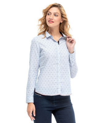 Chemise blanches fines rayures femme - Mode marine Femme