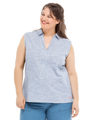Blouse sans manches grande taille - Mode marine Femme