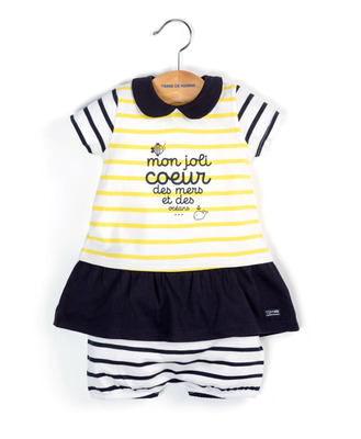 Robe et bloomer bébé fille - Mode marine FINPromotions