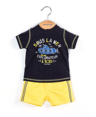 Ensemble t-shirt et short bébé - Mode marine FINPromotions