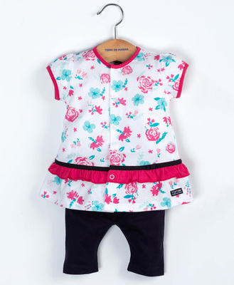 Ensemble tunique et leggings bébé - Mode marine FINPromotions