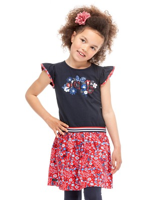 Robe denim chasuble fille - Mode marine Enfant