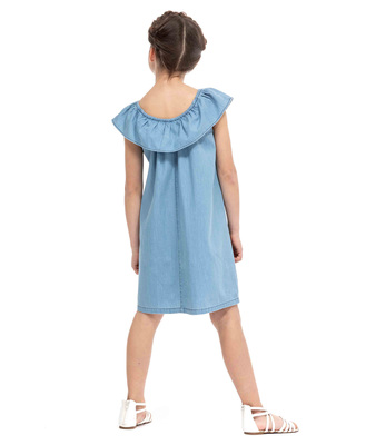 Robe denim chasuble fille_1