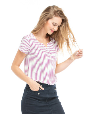 Tee-shirt manches courtes femme - Mode marine FINPromotions