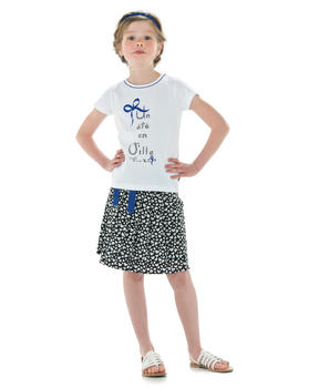Tee-shirt fille blanc manches courtes_1