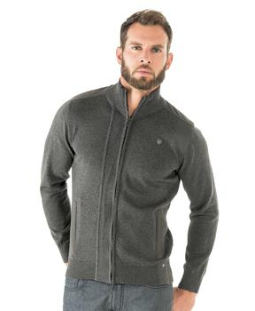 Cardigan homme granit chiné - Mode marine Homme