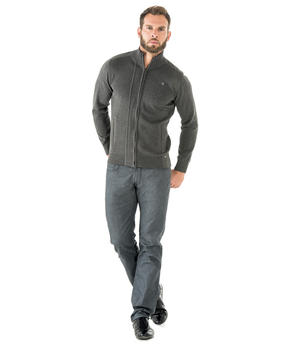 Cardigan homme granit chiné_1