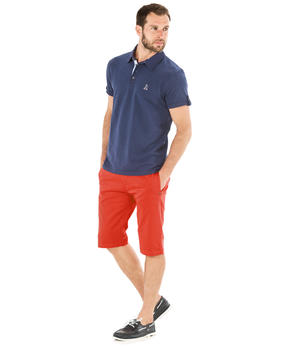 Polo manches courtes homme jacquard_1