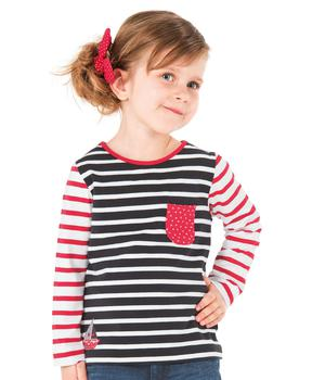 Tee-shirt manches longues fille rayé  - Mode marine Enfant fille