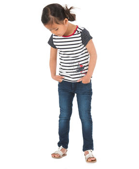 Tee-shirt manches courtes fille rayé _1