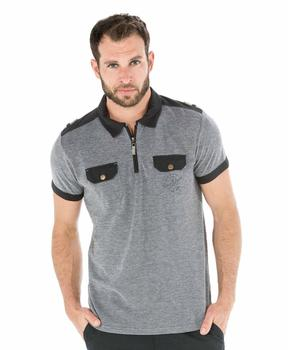 Polo manches courtes homme bicolore - Mode marine Homme