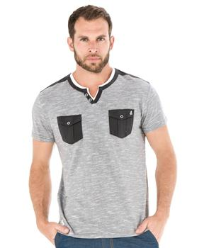 Tee-shirt manches courtes homme rayé  - Mode marine Homme