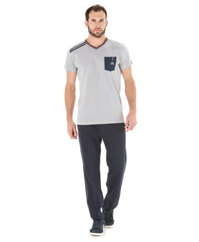 Tee-shirt manches courtes homme gris galet_1