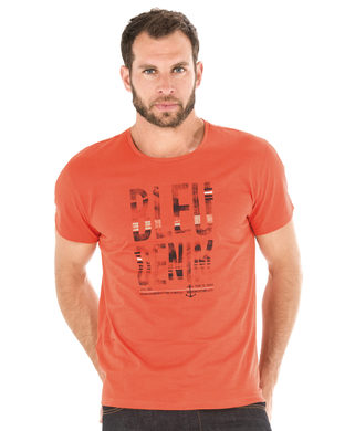 Tee-shirt manches courtes homme orange canyon - Mode marine Homme