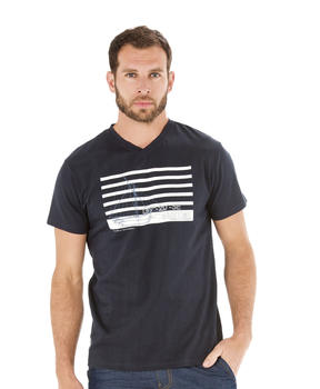Tee-shirt manches courtes homme marine - Mode marine Homme