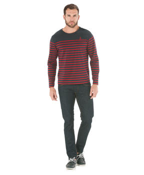 Tee-shirt manches longues homme rayé _1