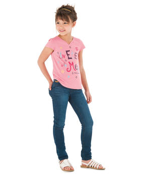 Tee-shirt manches courtes fille rose_1