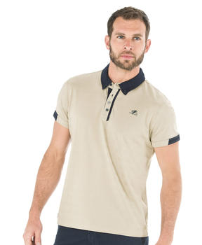Polo manches courtes homme cailloux - Mode marine Homme