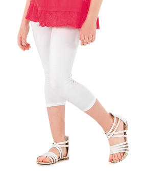 Legging fille blanc optique - Mode marine Enfant fille