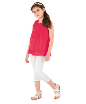 Legging fille blanc optique_1
