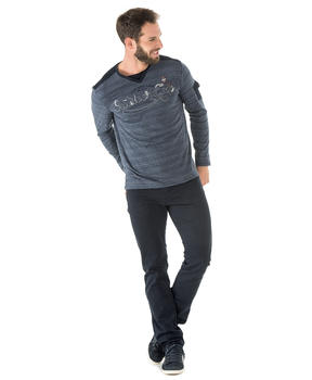 Tee-shirt manches longues homme rayé - Mode marine Homme