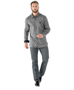 Chemise manches longues homme grise - Mode marine Homme