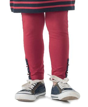 Legging long enfant fille rouge pimenté - Mode marine Enfant fille