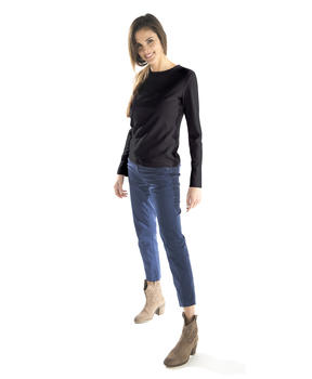 T-shirt femme manches longues col rond_1
