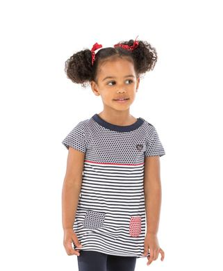 Tunique enfant fille imprimé  - Mode marine Promotions