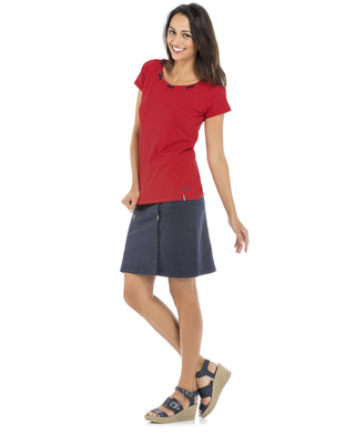 Tee-shirt manches courtes femme rouge_1