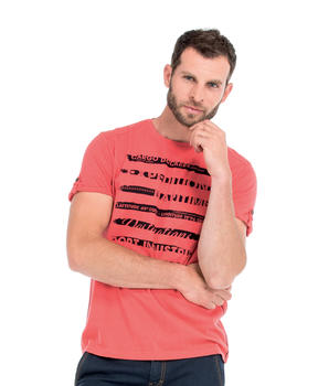 Tee-shirt manches courtes homme corail - Mode marine Homme