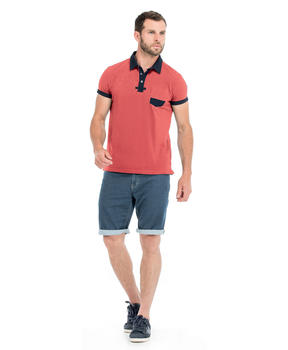 Polo manches courtes homme corail_1
